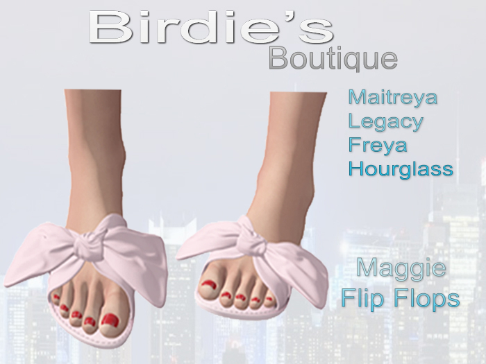 Birdie's Boutique - Maggie Flip Flops - Light Pink