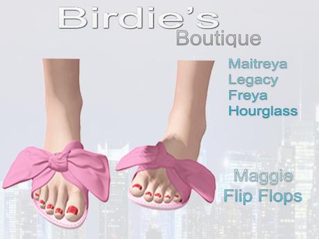 Birdie's Boutique - Maggie Flip Flops - Pink