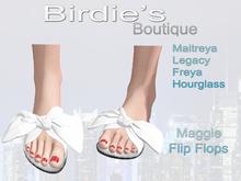 Birdie's Boutique - Maggie Flip Flops - White