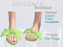 Birdie's Boutique - Maggie Flip Flops Lime