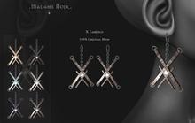 X Earings by Madame Noir