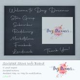 Day Dreamer - Store Info Board (boxed)