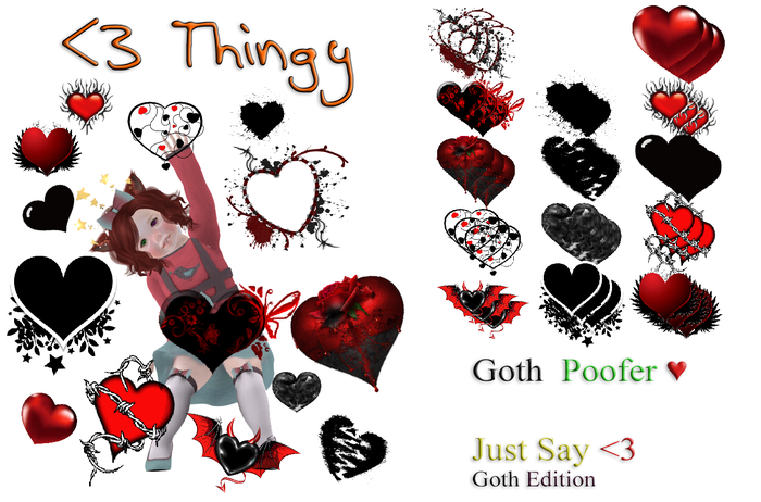 <3 thingy (Goth Version)