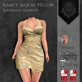 **Mistique** Nancy Sequin Yellow{wear me and click to unpack)