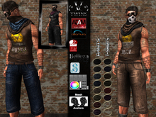 V-Twins Biker  - Wasteland men's complete outfit for Adam,  Slink, Belleza, Signature Gianni and Altamura