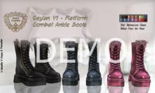 DEMO - Nala Design - Ceylan Platform Combat Ankle Boots