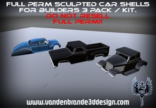 FULL PERM car chassis / shell starters pack / kit 3 pack For Creators!