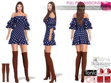 %50SUMMERSALE Female Brown Suede High Heel Thigh Boots For Maitreya Slink Belleza Ocacin Classic Body Avatars