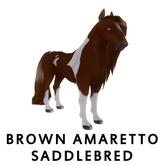 Amaretto Breedable Bundle Female, Brown Amaretto Saddlebred, Plum, 2 x Braided