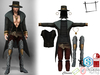 Full Perm Hat+Hair+Top+Coat+Belts+Pants+Boots+Necklace+Earings Outfit Slink Male, Belleza Jake, Signature Gianni