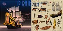 01 -Culco- Pirate -Ship -Black RARE
