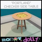 Robot Dolly  - Portland Checker Side Table