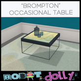 Robot Dolly  - Brompton Occasional table with glasses