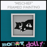 Robot Dolly - Mischief - Framed Painting MP