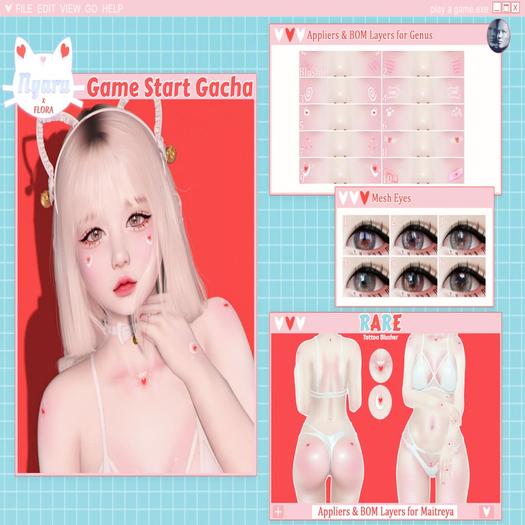 {Nyaru} - Game Start Gacha - Eyes 5