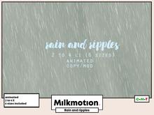 (Milk Motion) Rain and ripples