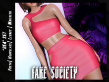 /fake society / bea top / pink