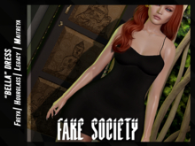 /fake society / bella dress / black