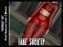 /fake society / express pants / red