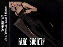 /fake society / coverall set / overalls / black