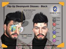 Flip-up SP Glasses - Black - [Chris Two Designs]