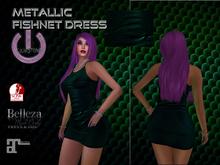 Fishnet Dress-GreenBlue