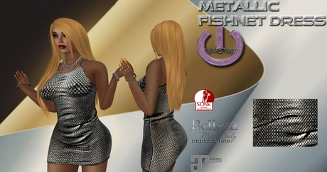 Fishnet Dress-SilverGold
