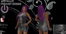 Fishnet Dress-Silver