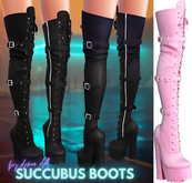 Demon Doll - Succubus Boots Baby Pink