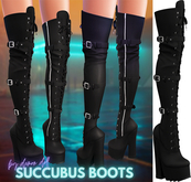 Demon Doll - Succubus Boots Onyx
