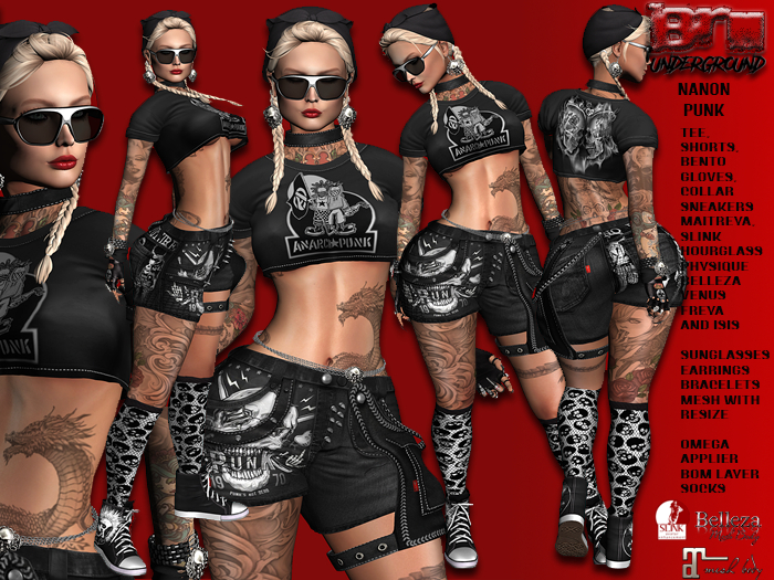 **NANON PUNK STYLE COMPLET OUTFIT** (WEAR)