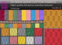 20 india printed seamless cotton fabrics full perms