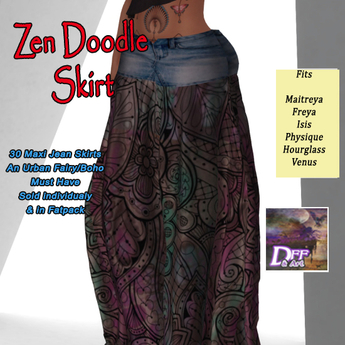 DFF Zen Doodle Maxi Skirt #28