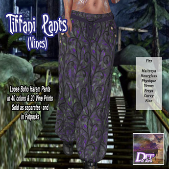 Tiffani Boho Pants (Vines) #10