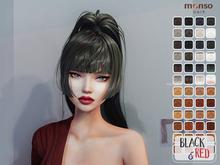 [monso] My Hair - Ikki /Black & Red