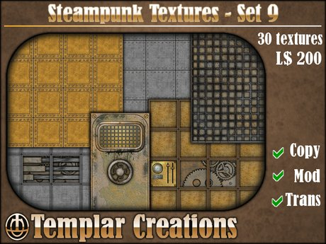 Steampunk Textures - Set 9