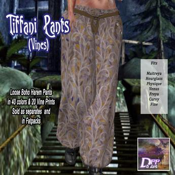 Tiffani Boho Pants (Vines) #2