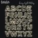 tarte. fairy light letters