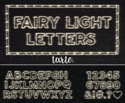 tarte. fairy light letters & numbers - FULL SET