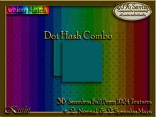 Dot Hash Combo Seamless Fabric Textures