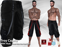 Troy Capris Pants Black