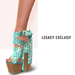 A~ Silk wrapped chunky sandals ~ Legacy exclusif
