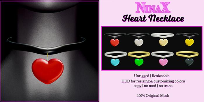 NinaX: Heart Necklace [ add ]