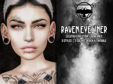 + [QUOTH] + RAVEN EYELINER - LELUTKA EVOLUTION - BOM ONLY