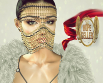 [HS] Face Chain Mask [Gold]