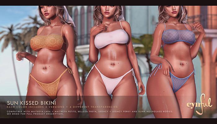 Cynful Sun Kissed Bikini - Fatpack    [Maitreya Lara, Belleza Freya, Slink (HG), Legacy, (+Perky), Kupra