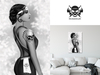 * 5th5ea5on * Skully / Black & White Female Portrait Wall Art