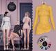 DEAD DOLL - Roxanne Dress - Yellow