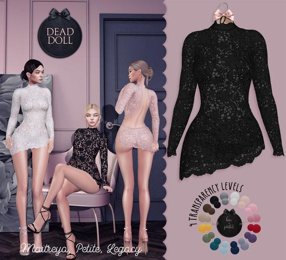DEAD DOLL - Roxanne Dress - Black