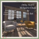 { Why Not ?}Melgarve Chair & Table Set-Boxed
